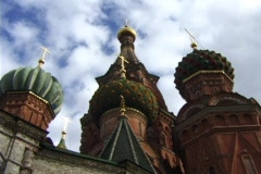 Saint Basil's Cathedral in Moscow Stock Footage