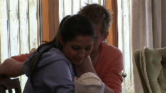Couple with new born baby 2 Stock Footage