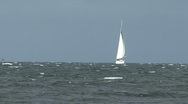 Stock Video Footage of Sail Boat In Choppy Seas