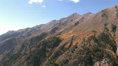 Autumn Mount Nebo Utah Aspen tree color pan M HD Stock Footage