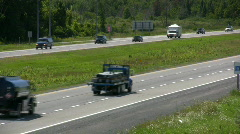 Summer Traffic On A Canadian Divided Highway  Stock Footage