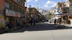 Indian town of Leh Stock Footage