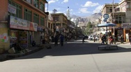 Stock Video Footage of Indian town of Leh