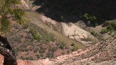 River from clif side Stock Footage