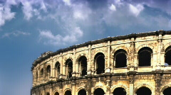Stock Video Footage of Coliseum and clouds time lapse