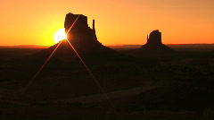 Monument Valley Navajo Tribal Park at Sunrise, time lapse  Stock Footage