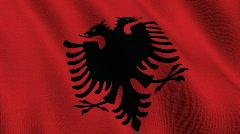 Flag of Albania Stock Footage