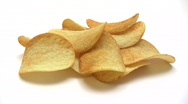 Eating Potato Chips - Time Lapse Stock Footage