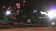 Late Night Car Crash 02 Stock Footage