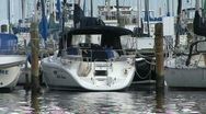 Yacht In A Marina Stock Footage