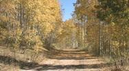 Autumn mountain trail ATV towards M HD Stock Footage