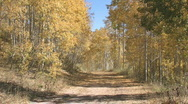 Autumn mountain trail ATV away M HD Stock Footage