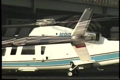 Helicopter rotors Stock Footage