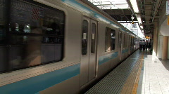 Train Leaving, Tokyo Stock Footage