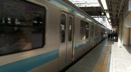 Train Leaving, Tokyo Stock Footage
