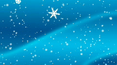 Blue Snow Flakes Background - HD1080 Stock Footage