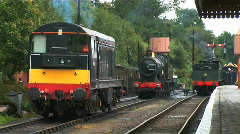 Trains in the station Stock Footage