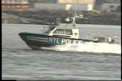 NYC police boat Stock Footage