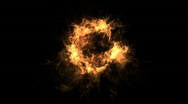 Fire circle Stock Footage
