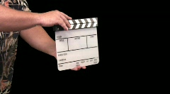 Clap board or slate being clapped Stock Footage