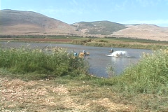 Fish farming in Israel Stock Footage