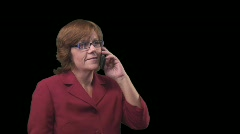 Professional business woman talking on cell phone Stock Footage
