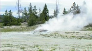 Steaming rock yellowstone Stock Footage