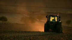 Tractor working in the field - stock footage