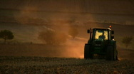 Stock Video Footage of Tractor working in the field