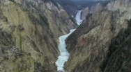 Stock Video Footage of Yellowstone falls long river