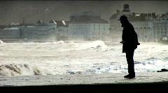 Coastal storm Stock Footage