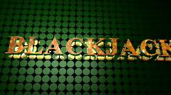Blackjack Poker Sign Stock Footage