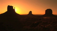 Monument Valley Tribal Park, sunrise, time lapse  Stock Footage