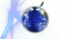Running around the world Stock Footage