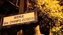 Avenue des Champs-Elysees, Paris Stock Footage