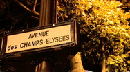 Stock Video Footage of Avenue des Champs-Elysees, Paris