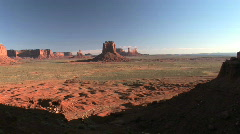 Monument Valley Navajo Tribal Park in Arizona / Utah Stock Footage