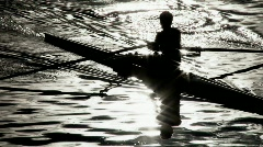 Rower Silhouette Stock Footage