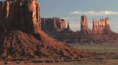 Monument Valley Buttes in Arizona & Utah, American Southwest, time lapse - stock footage