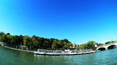 Seine river, Paris, France Stock Footage