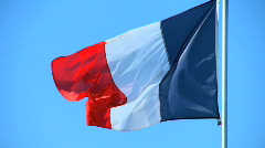 French flag  - stock footage