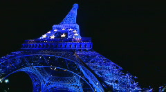 Paris Eiffel tower Stock Footage
