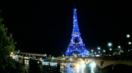 Stock Video Footage of Paris Eiffel tower