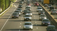 Heavy traffic Timelapse w/lane changes. Stock Footage
