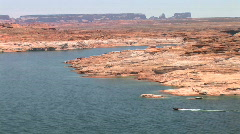 Lake Powell at the Glen Canyon National Recreation Area in Arizona Stock Footage