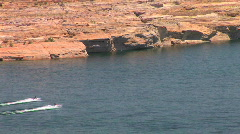 Two Jet Skis on Lake Powell in Arizona Stock Footage