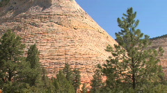 Checkerboard Mesa in Zion National Park, Utah Stock Footage