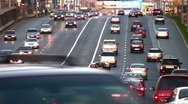 Cars on road. Moscow Stock Footage