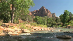 Virgin River in Zion National Park, Utah Stock Footage