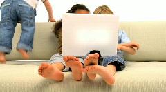 Three little children Stock Footage